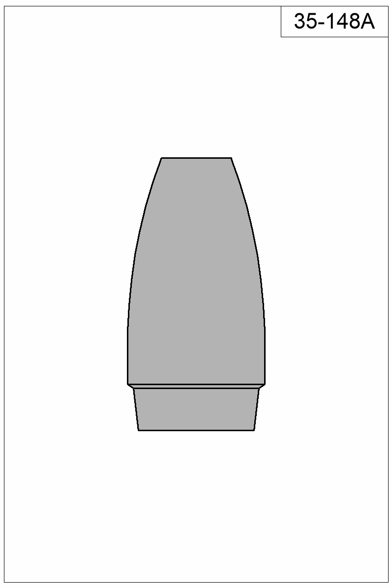 Filled view of bullet 35-148A.