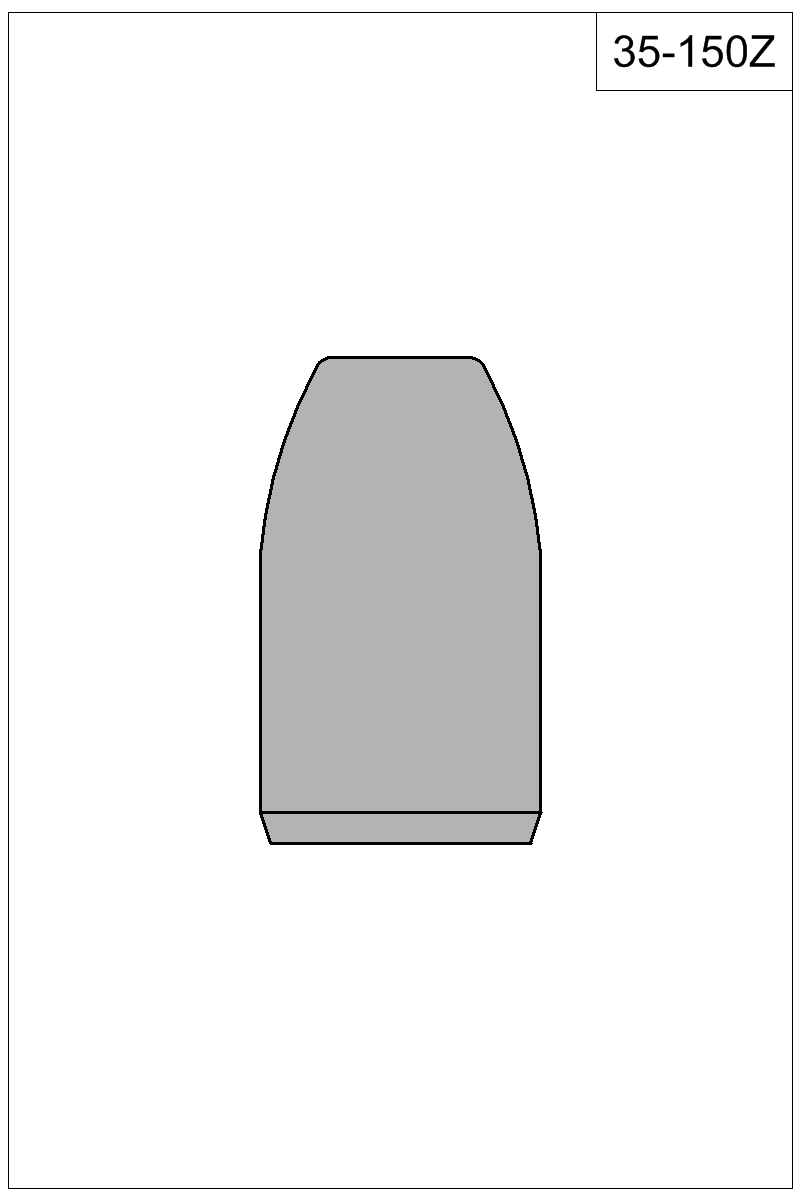 Filled view of bullet 35-150Z.